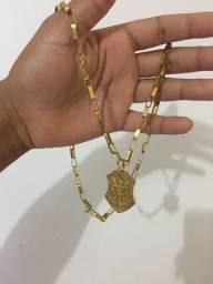 Vendo cordão prata banhado a ouro, no valor de 150