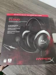 Headset hyperx cloud silver