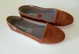 Sapato Feminino Slip On Moleca n38. Usado 1 vez. Camurça