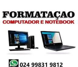 Formatação e manutenção notebooks e computadores