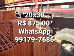 Tijolos 20x30 875,00. ENTREGA GRATIS