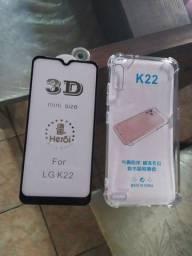 Película de vidro + capinha LG K22