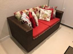 Lindo sofá para varanda gourmet
