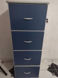 Arquivo de escritório 4 gavetas mdp com chave semi-novo