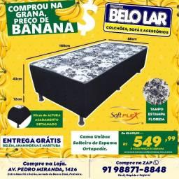 Cama Unibox Solteiro De Espuma, Compre no zap *