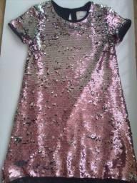 Vestido infantil furta cor 7-8 anos e 9-10  anos