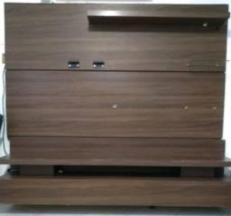 Painel rack de madeira impecável