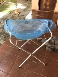 Banheira com suporte para bebês