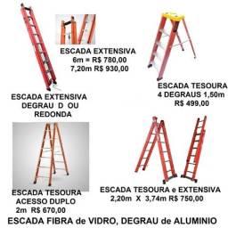 Escada Extensiva Fibra de Vidro degrau alumínio novas, veja outros modelos