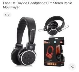 Fone de ouvido Bluetooth e mp3