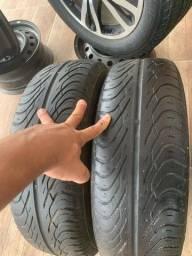 Dois pneus semi novos 185/70/14 zeros na etiqueta por 350,00
