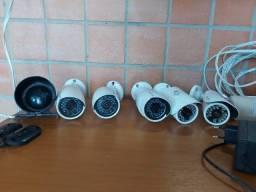 Kit de Monitoramento completo com câmeras e alarme