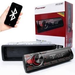 Auto rádio Pioneer com Usb Aux Bluetooth Lançamento