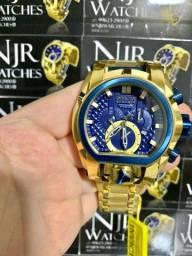 Relógio Invicta magnum botoes azul novo lacrado