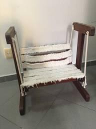 Cadeira balanço e cavalo Madeira