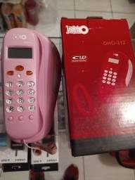 Telefone aparelho fixo residencil de mesa ou parede somente rosa novo na caixa