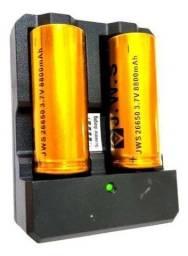 A-Carregador Duplo bateria 26650, 22650, 18650, 16340