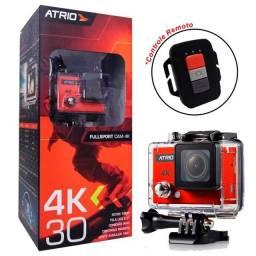 Câmera Filmadora Atrio 4K Esportiva Portátil Laranja