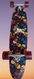 Skate Longboard Caveira