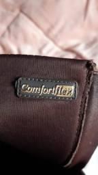 Bota marrom cano alto n 38 Confortflex