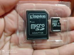 Vendo cartão de memória Kingston 128 gigas, troco por controle bluetooth