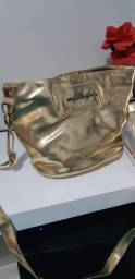 Bolsa Dourada - Alça Transversal - Perfeita!