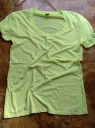 Camisa Hering amarela fluorescente XG/XL
