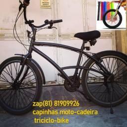 capas preto bicicleta aceitamos cartão