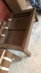 2 mesas de centro com gaveta e vidro