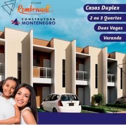 Casas Duplex em condomínio fechado com 2 ou 3 quartos no Passaré.
