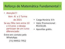 Reforço Escolar Online de Matemática