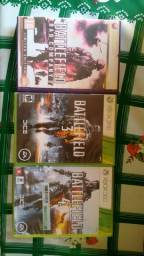 Vendo 3 jogos de xbox original Battlefield 2 Battlefield 3 Battlefield 4 por 130