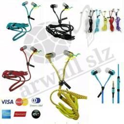 Fone de Ouvido Intra-Auricular P2 Ziper Colors(Entrega a Combinar) em São Luís MA