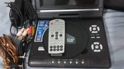 DVD Portátil de 7 polegadas