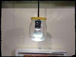 Luminária Pendente Rústica em Pote de Conserva