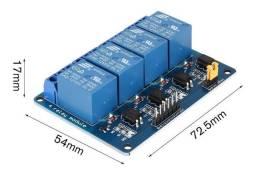 Módulo Relé 4 Canais 12v Automação Arduino