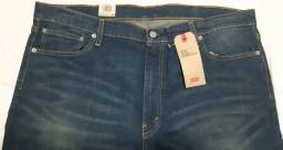 Calça Jeans Levis Masculina 513 Slim Straight Fit - Azul