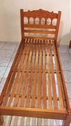Cama de solteiro - CEREJEIRA (madeira maciça)
