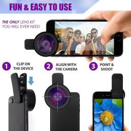 Lente Apexel para o Smartphone- kit 0.45