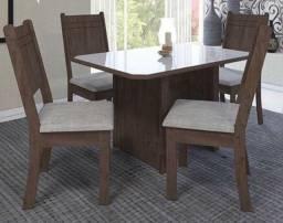 Mesa de jantar new charme 4 cadeira