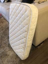 Colchão para mini berço + 3 lençóis + capa protetora impermeável