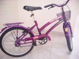 Bicicleta feminina infantil aro 20 cor bordô
