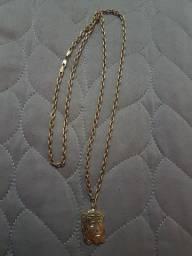 Corrente Ouro Cartier com pingente