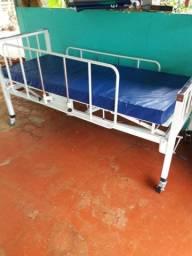 Cama hospitalar com colchão NOVA