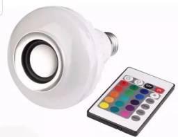 Usado, Lampada Musical Caixa Som Bluetooth Led Rgb Com Controle E27<br><br> comprar usado  Londrina