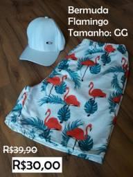 Bermuda Flamingo Tamanho GG