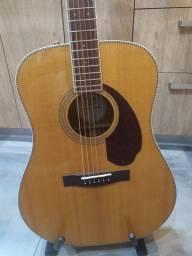 Violão Fender Paramount PM-1e Std All Solid Natural C/ Case