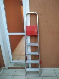 Escada 5 degraus dobrável