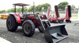 trator Massey Ferguson 275 4x4 ano 2005 com Conjunto de Concha STARA<br><br>