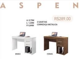 Escrivaninha Aspen mesa para computador com gaveta